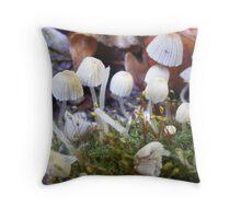 Mini mushroom world. Throw Pillow