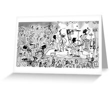 jazz club Greeting Card