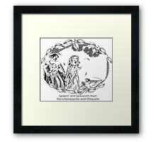 The Two Lizards meet The Dryads Framed Print