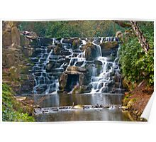 Silky Cascade at Virginia Waters Poster