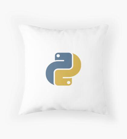 Python Curved Logo Throw Pillow