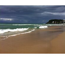 Burleigh Head Aproaching Storm Over the Ocean Photographic Print