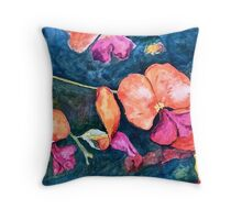 Orange orchids Throw Pillow