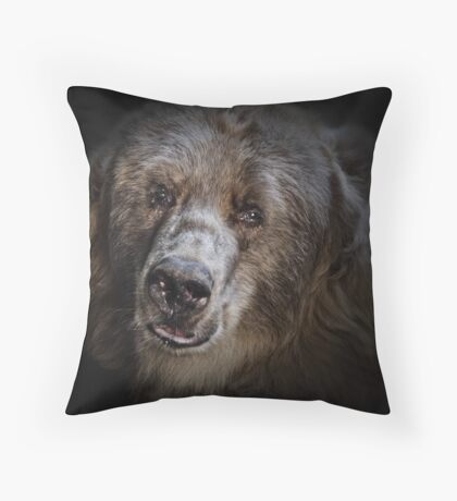 The Kodiak Bear Throw Pillow