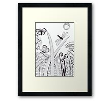 Another Night Garden Framed Print