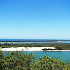 Amazing blue waters of Lakes Entrance by stormypeace