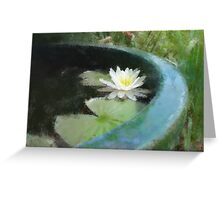 Water Lily in the style of Monet Greeting Card