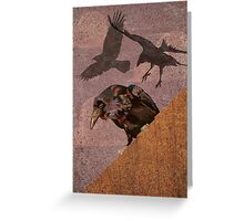 Grimey Crows Greeting Card