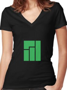 Manjaro Linux Women's Fitted V-Neck T-Shirt