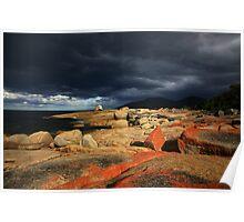 passing storm. bicheno, tasmania. Poster