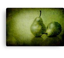 Green Pears Canvas Print