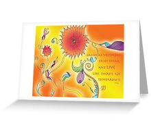 Laugh and Live Greeting Card