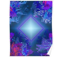 Inner Glow Blue Light Poster