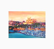 Spain Balearic Island Palma De Majorca With Harbour And Cathedral T-Shirt