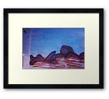 Big Boulders and Rocks  to  Cimb, watercolor Framed Print