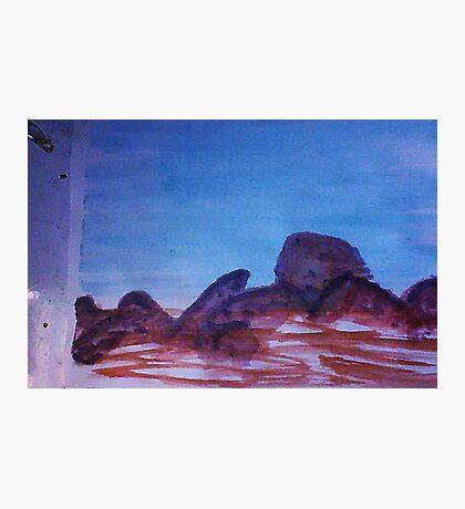 Big Boulders and Rocks  to  Cimb, watercolor Photographic Print