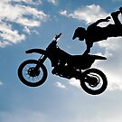 Dirt Bike Acrobatics-Superman Seat Grab by Yvonne M.  Merkle