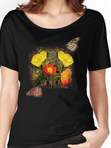 Yellow and Red Poppies Women's Relaxed Fit T-Shirt