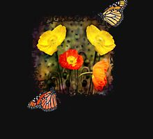 Yellow and Red Poppies Womens Fitted T-Shirt
