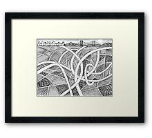 The Highway Maze Framed Print