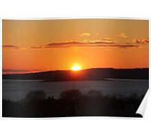Sunset terrace Poster