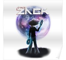 Afro Zack Moon Poster