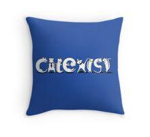Cat-Exist Throw Pillow