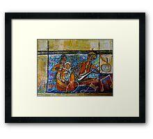folk musicians Framed Print