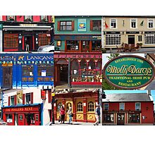 Just a few Irish bars Photographic Print