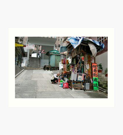 The umbrella man Art Print