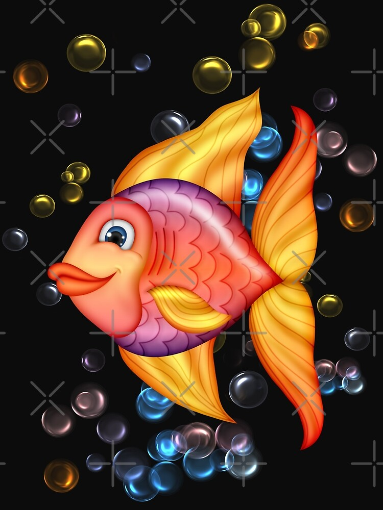 Happy Colorful Fish  by LoneAngel
