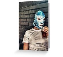 Barfly Wrestler Greeting Card