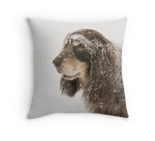 snow came too suddenly... Throw Pillow