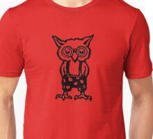 Retro Halloween Cartoon Baby Owl with Glasses Unisex T-Shirt