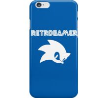 Retro gamer Sonic Shirt iPhone Case/Skin