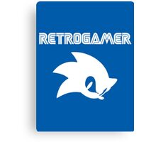 Retro gamer Sonic Shirt Canvas Print