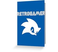Retro gamer Sonic Shirt Greeting Card