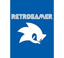 Retro gamer Sonic Shirt Photographic Print