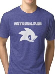 Retro gamer Sonic Shirt Tri-blend T-Shirt