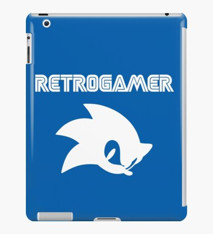 Retro gamer Sonic Shirt iPad Case/Skin