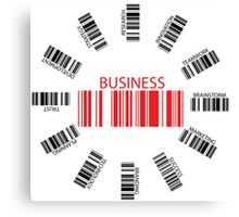 Business bar codes Canvas Print