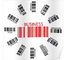 Business bar codes Poster
