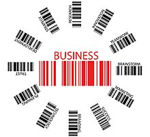 Business bar codes Photographic Print