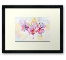 Fuchsia Watercolor Framed Print