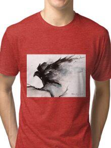 Abstract raven ink art Tri-blend T-Shirt