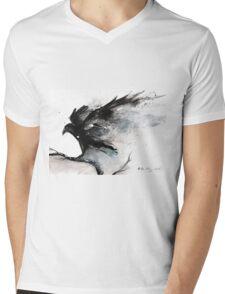 Abstract raven ink art Mens V-Neck T-Shirt