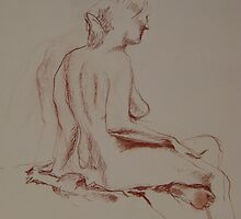 Back view of Gwyneth - 20 minute sketch by Michelle Gilmore