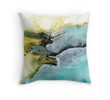 Abstract ink Throw Pillow