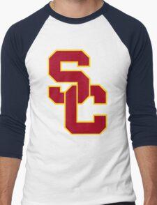 interlocking usc  Men's Baseball ¾ T-Shirt