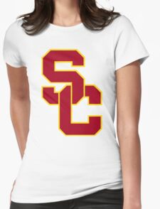 interlocking usc  Womens Fitted T-Shirt